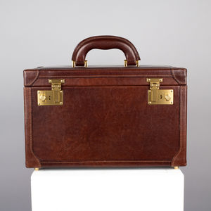 Luxury Leather Vanity Case. 'The Bellino' - personalised