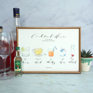 Cocktail Hour Personalised Family Print