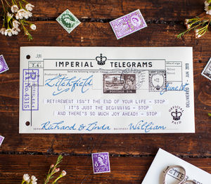 Vintage Retirement Telegram - retirement & leaving gifts