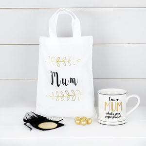 Super Mum Mug, Mirror And Chocolates, Mothers Day Gift - mother's day gifts