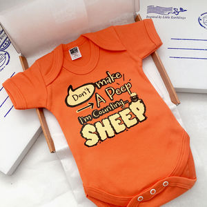 'Shhhh.. Don't Make A Peep' Baby Gro, New Baby Gift - clothing