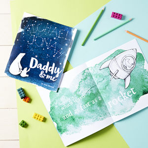 Personalised Daddy And Me Book - gifts from younger children