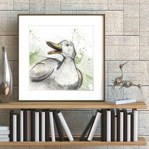 Illustrated Duck Print