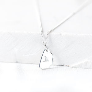 Silver Cloud Letter Necklace