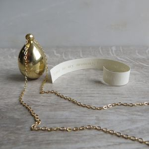 Brass Secret Message Locket Necklace - lockets