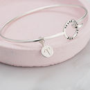 Personalised Mini Circle Charm Bangle