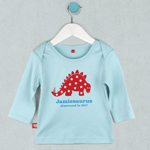 Personalised Baby Dinosaur T Shirt - on trend: dinosaurs