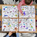 World Map Placemats, Colour In And Learn