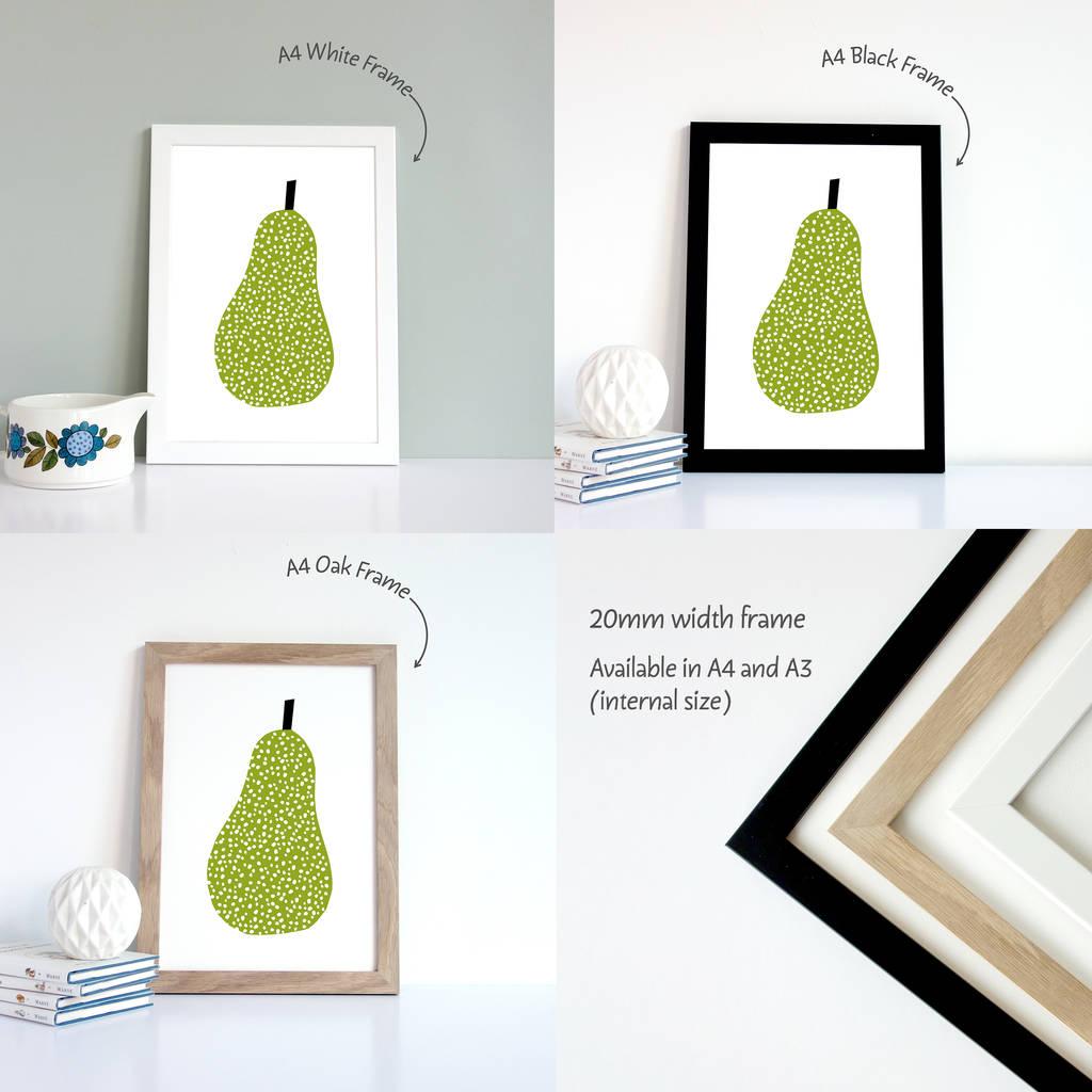 Kitchen Art, Pear Print By Yoyo Studio