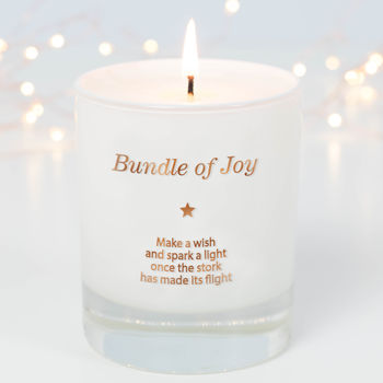 Make A Wish For The Bundle Of Joy Candle