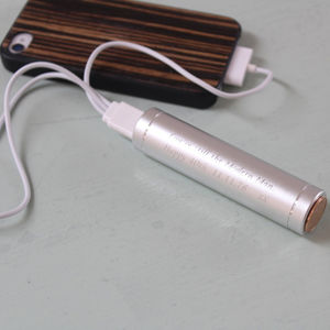 Personalised Phone Power Bank Charger