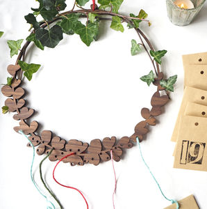 Wooden Wreath Advent Calendar - wreaths