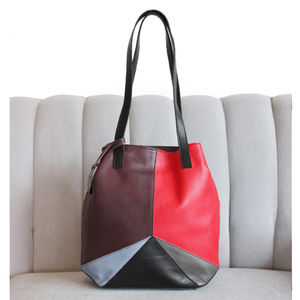 Lilly Bag Multi, Red, Burgundy, Black And Grey