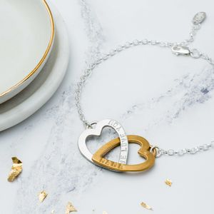 Personalised Entwined Hearts Bracelet - what's new