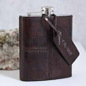 Personalised Leather Hip Flask - fashion