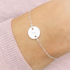 Personalised Sterling Silver Disc Bracelet