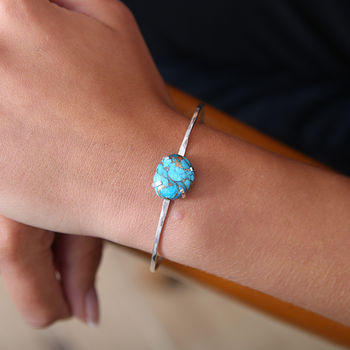Bronze Infused Arizona Turquoise Bangle