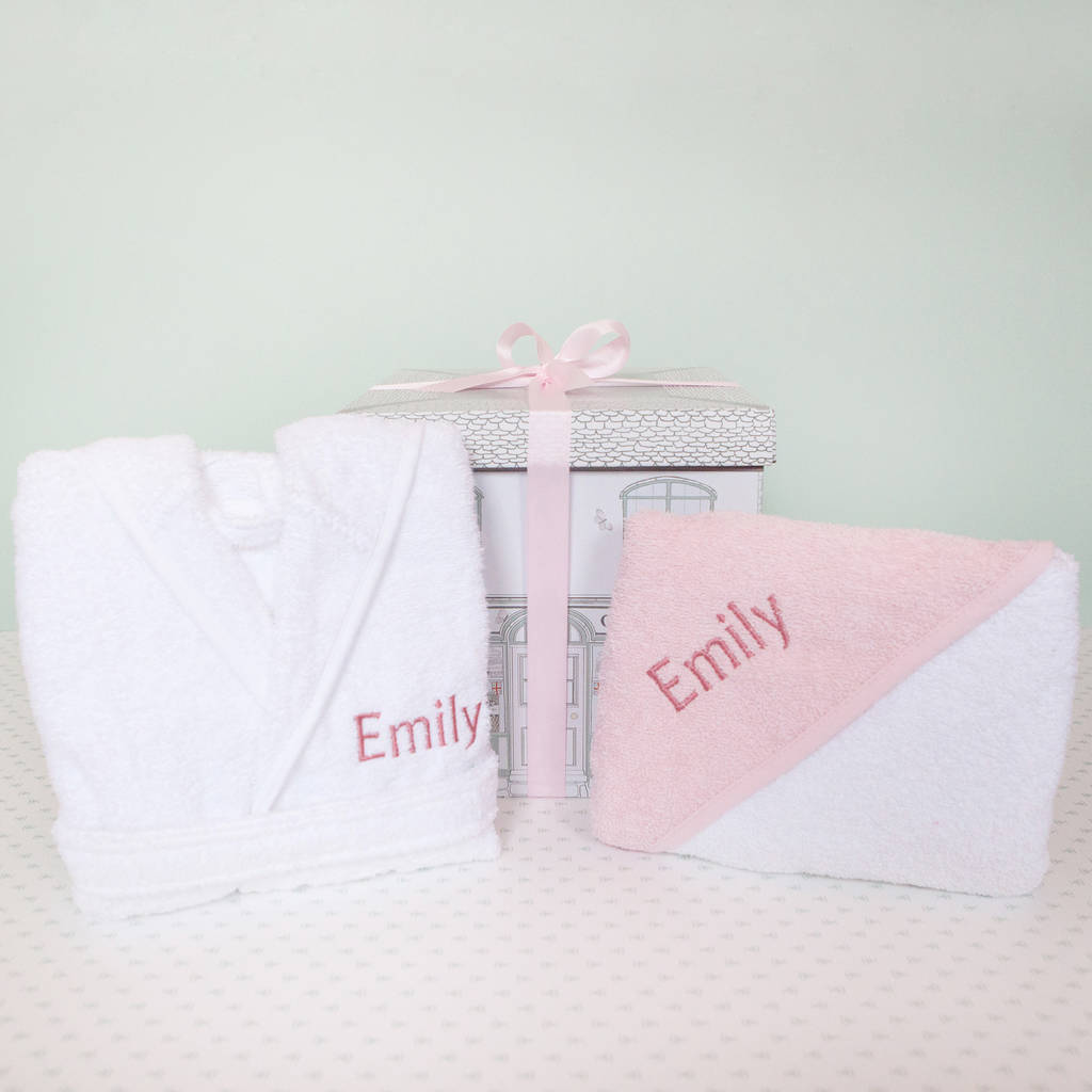 Personalised Cosy Cuddles Gift Set, Pink