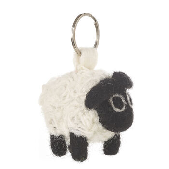 Handmade Black Sheep Keyring
