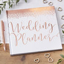 Bride To Be Rose Gold Foiled Wedding Planner