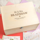 Personalised Anniversary Wooden Keepsake Box