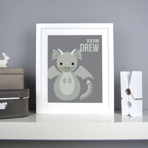 Personalised Dragon Nursery Print