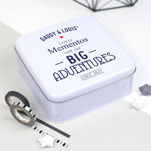 Personalised Fathers Keepsakes Tin - gifts for him