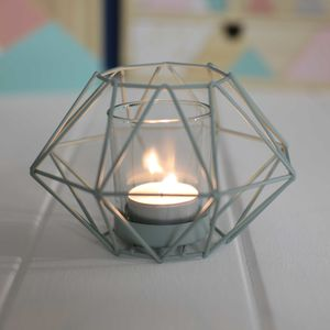 Tealight Holder With Geometric Inspired Design - table decoration