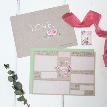 Love 'Memories And Sentiments' Card