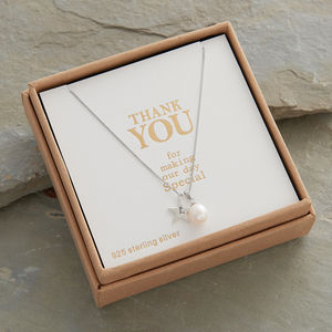 Personalised 'Bridesmaid Thank You' Necklace - be my bridesmaid?