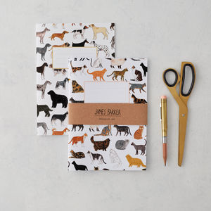 Cats And Dogs Notebook Set