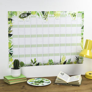 Reduced: 2018 Botanical Wall Calendar And Year Planner - 2018 calendars & planners
