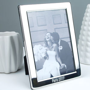 Personalised Silver Plated Photo Frame - picture frames