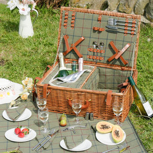 Personalised Champs Elysées Family Picnic Hamper - storage & organisers