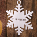 Personalised Snowflake Decoration in Matt White