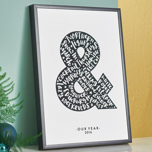 Personalised Anniversary Print 'Our Year' - 1st anniversary: paper