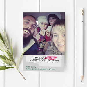 Selfie Christmas Card Set Of Eight
