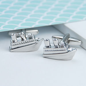 Personalised Cruise Ship Cufflinks - cufflinks