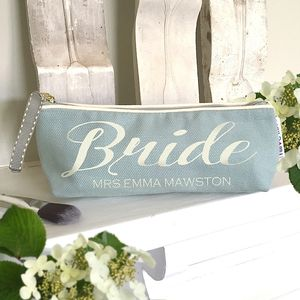 Personalised 'Duck Egg' Bridal Make Up Case