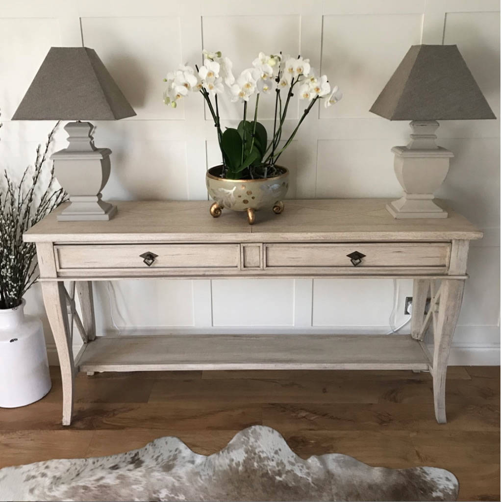 Sacramento Weathered Solid Wood Console Hall Table