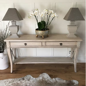 Sacramento Weathered Solid Wood Console Hall Table - coffee tables