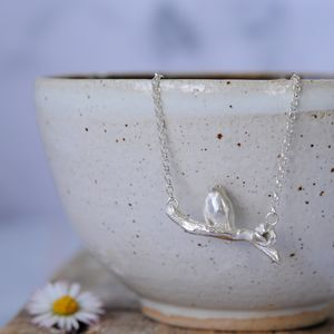 Sterling Silver Robin On A Branch Necklace - christmas clothing & accessories