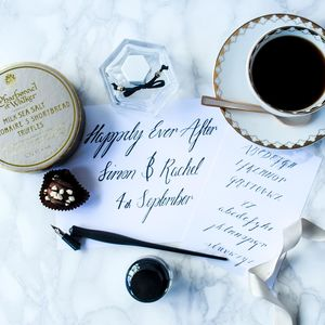 Personalised Engagement Announcement Calligraphy Kit - engagement gifts