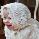 Bonita ~ Baptism | Christening Dress With Bonnet