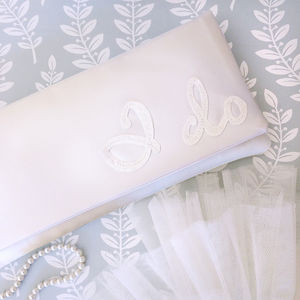 I Do Wedding Day Bridal Clutch