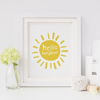 Hello Sunshine , Nursery Print