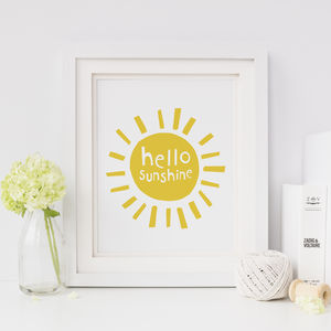 Hello Sunshine , Nursery Print - home sale