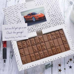 'Sorry It's Not.…?' Chocolate Card