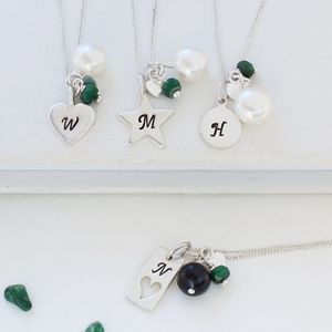 Personalised Birthstone Necklace - february birthstone