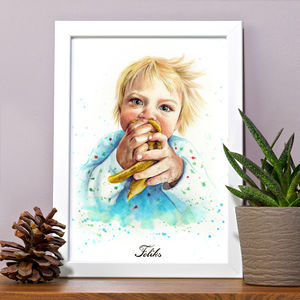 Children's Portrait Illustration Painting